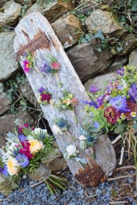 Wedding bouquet and buttonholes